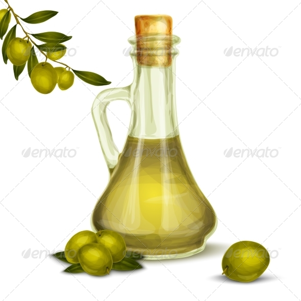 GraphicRiver Olive Oil Bottle 8617671