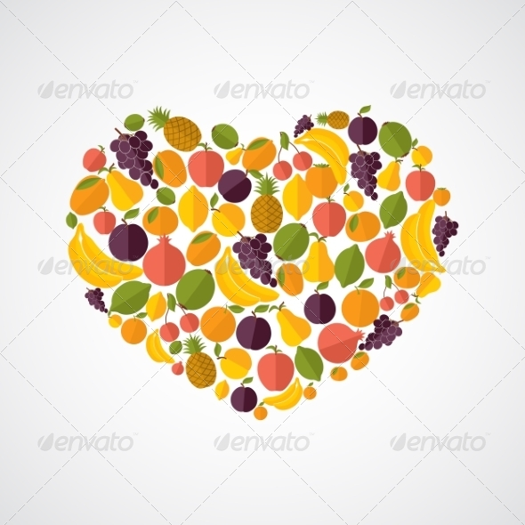 GraphicRiver Healthy Food Heart Composition 8617690