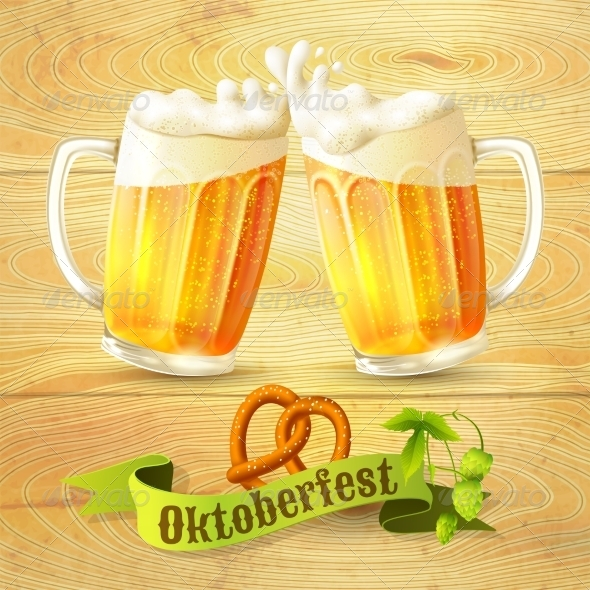 GraphicRiver Beer Mugs Octoberfest Poster 8617702