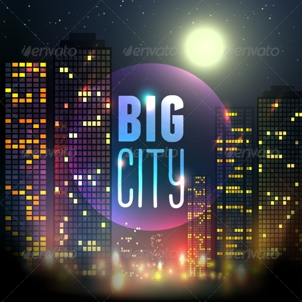 GraphicRiver City at Night 8617727