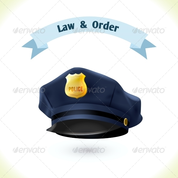 GraphicRiver Police Hat 8617736