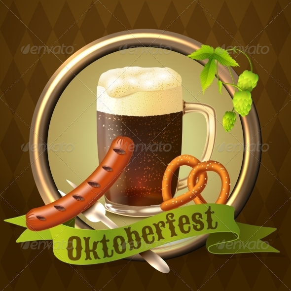 GraphicRiver Beer Mugs Octoberfest Poster 8617743