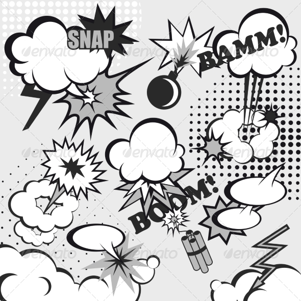 GraphicRiver Pop Art Comic Background 8617746