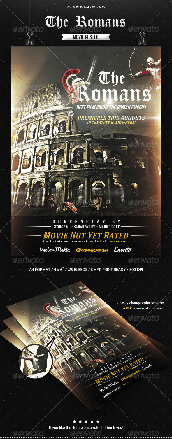 GraphicRiver The Romans Movie Poster 8617761