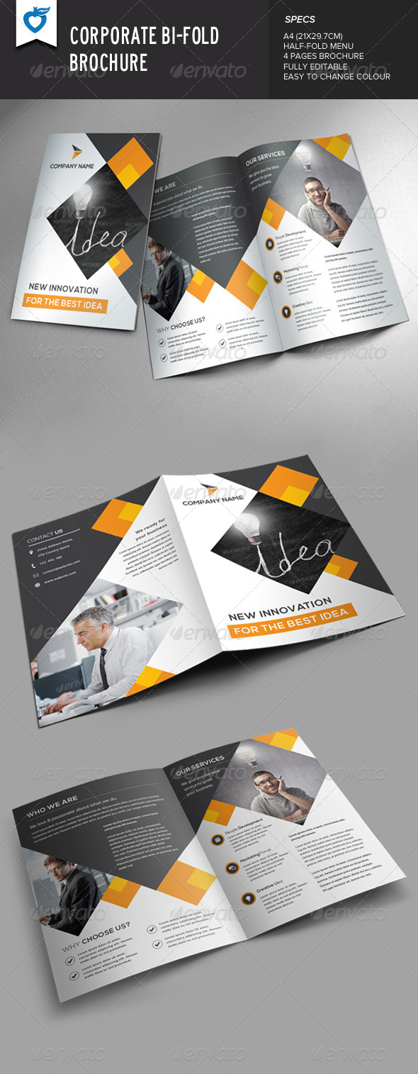 GraphicRiver Corporate Bi-Fold Brochure 8617776
