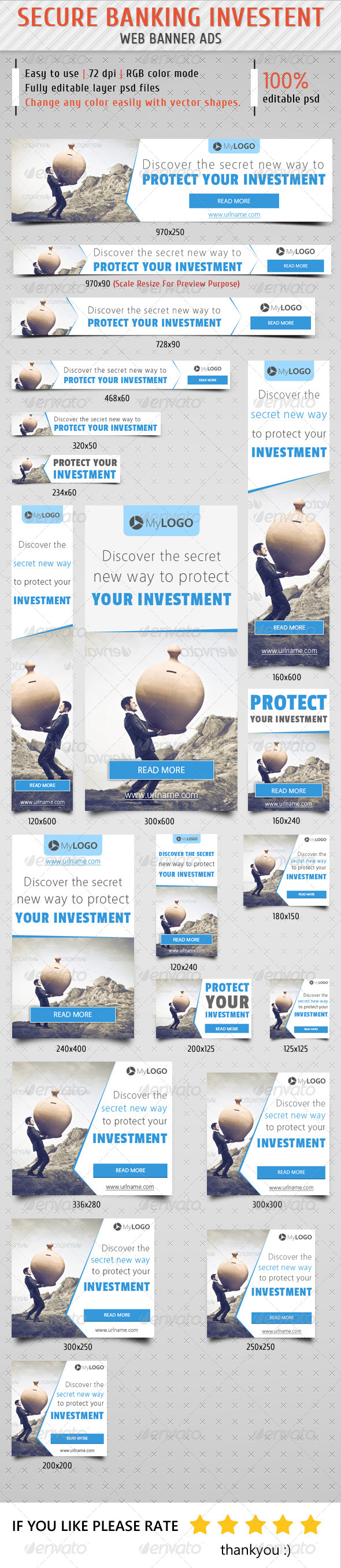 GraphicRiver Secure Banking Investment Web Banner Ads 8607043