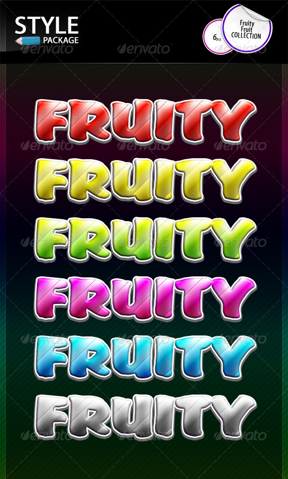 GraphicRiver Fruity Fruit Styles 8618312