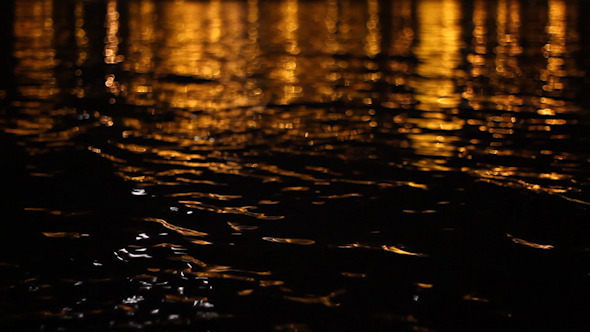 Dark Water With Reflections