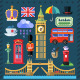 Vector Flat Great Britain Kingdom, London.  - GraphicRiver Item for Sale