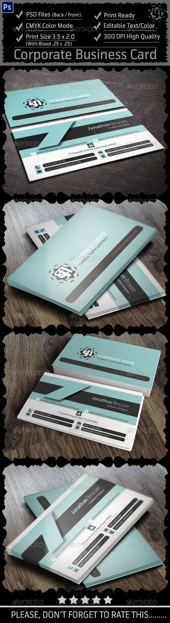 GraphicRiver Corporate Business Card Vol 12 8618463
