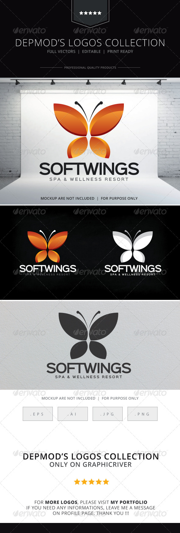 GraphicRiver Soft Wings Logo 8618489