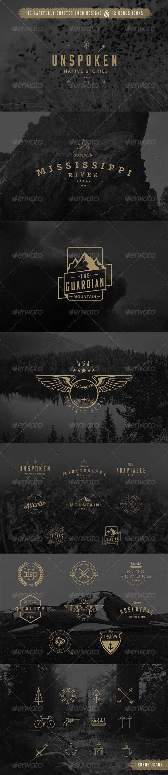 GraphicRiver 16 Badge Vector Pack 8618600