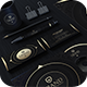 Gold And Black Corporate Identity - GraphicRiver Item for Sale