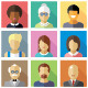 Vector Flat Icons Different People Characters - GraphicRiver Item for Sale