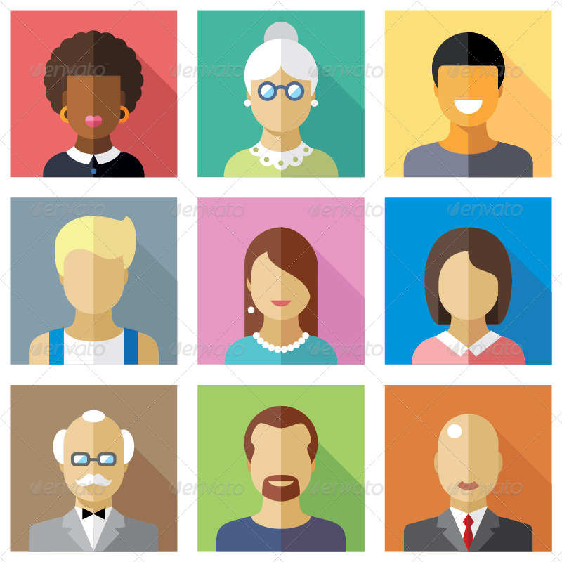 Vector Flat Icons Different People Characters - GraphicRiver Previewer: graphicriver.net/theme_previews/8618632-vector-flat-icons-different...