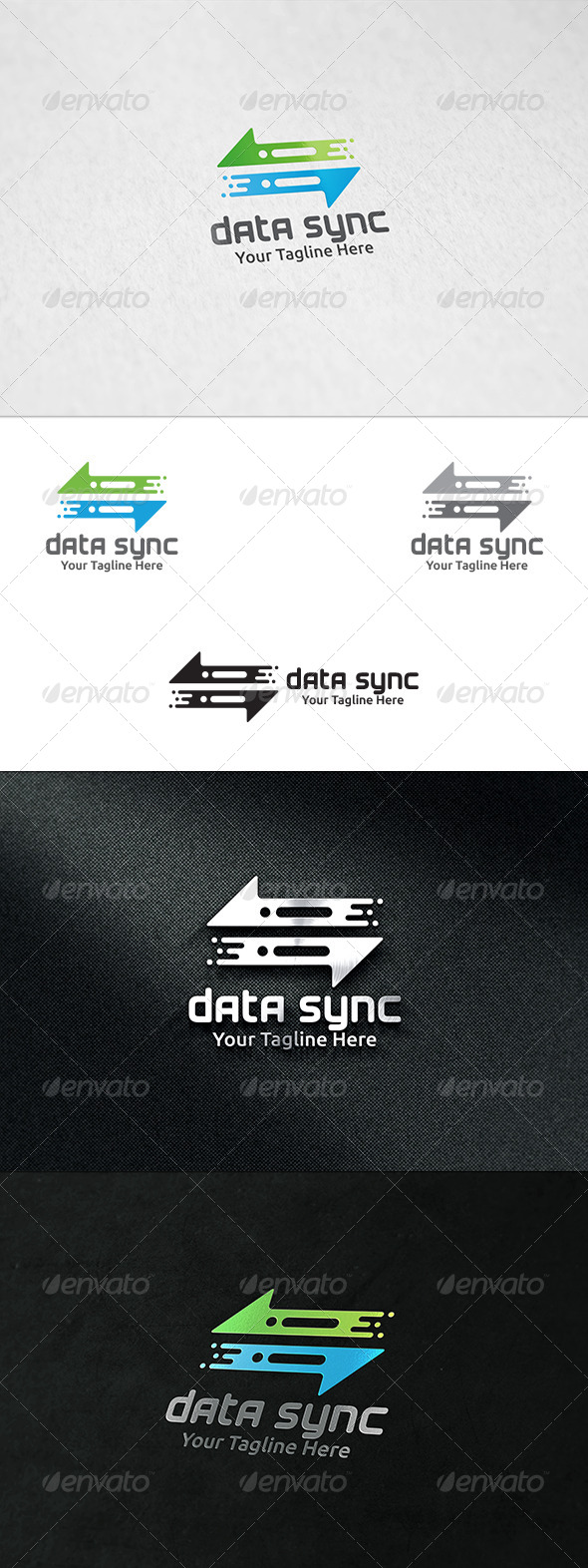 GraphicRiver Data Sync Logo Template 8618655