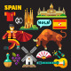 Flat Vector Icons Spain - GraphicRiver Item for Sale