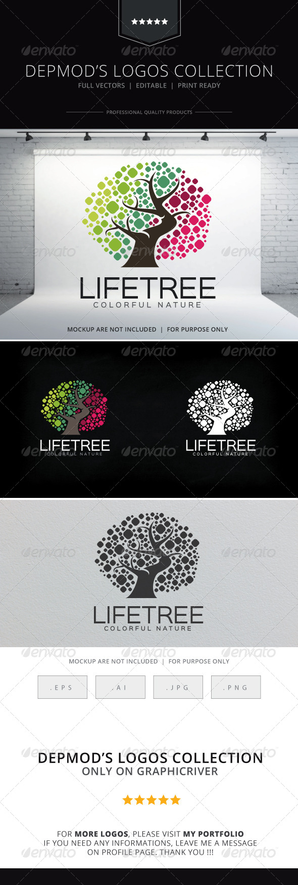 GraphicRiver Life Tree Logo 8618729