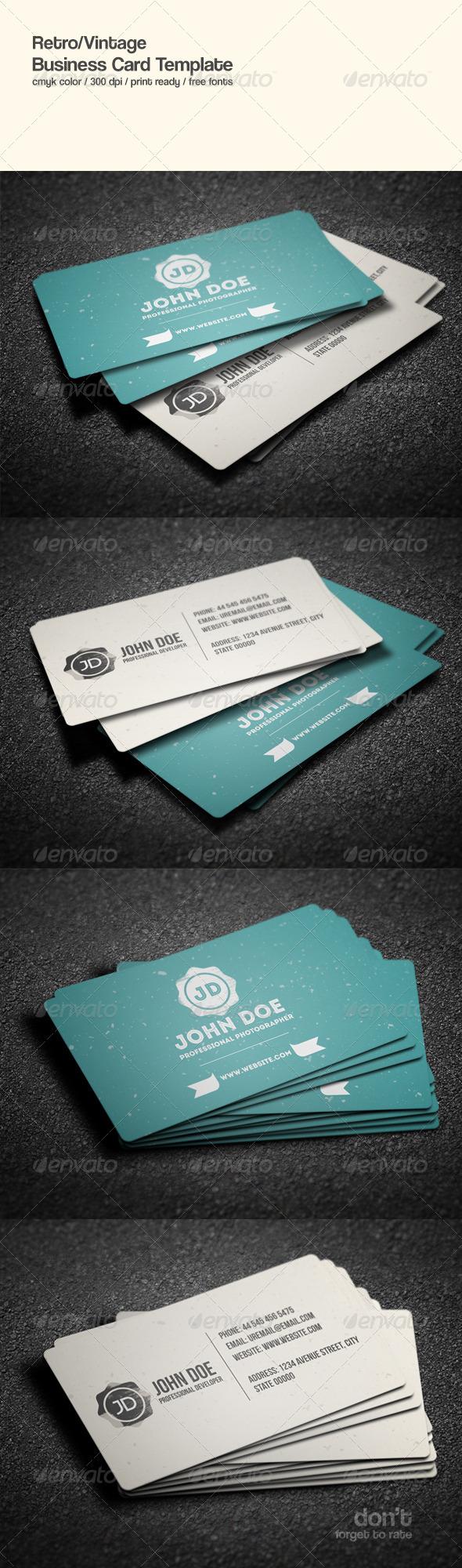 GraphicRiver Retro Business Card 8618745