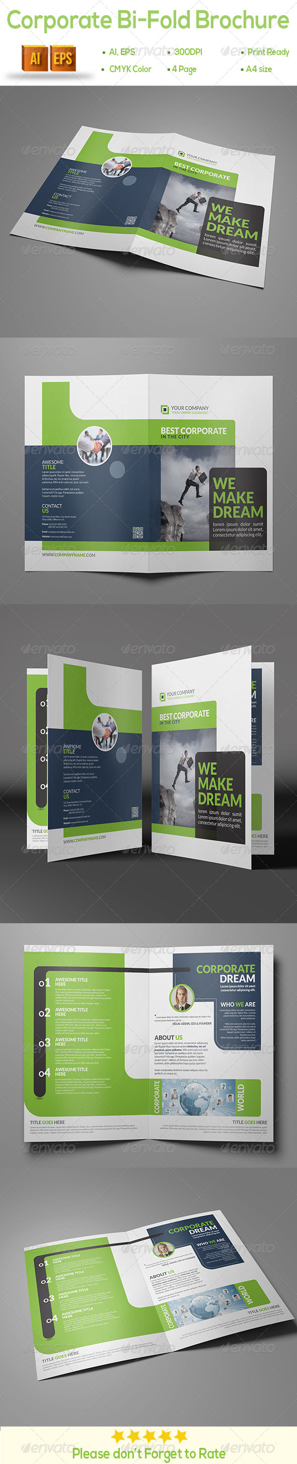 GraphicRiver Corporate Bi-Fold Brochure 8618834