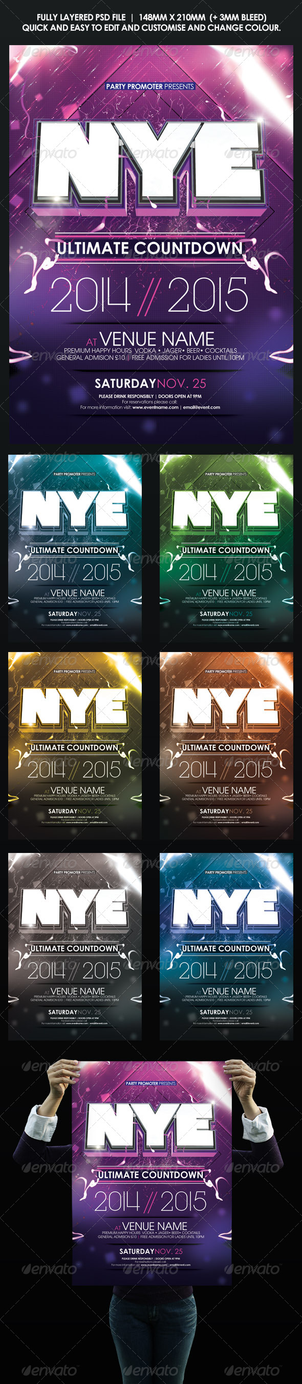 GraphicRiver NYE Minimal Flyer Poster 8619248