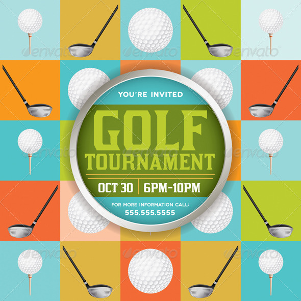 GraphicRiver Vector Golf Tournament Illustration 8619260