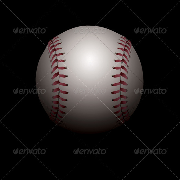 GraphicRiver Vector Shadowed Baseball Illustration 8619267