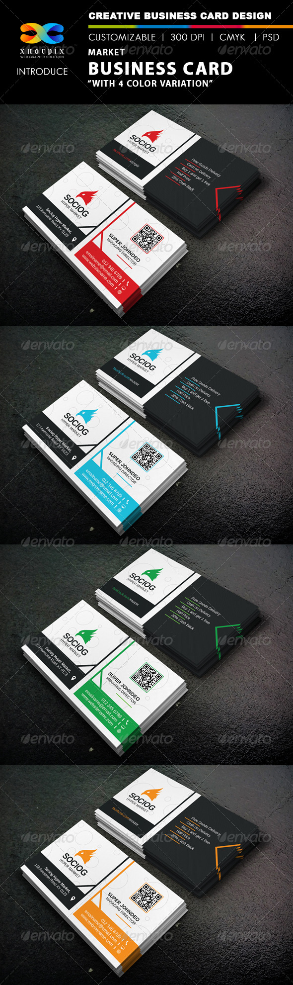 GraphicRiver Market Business Card 8619355