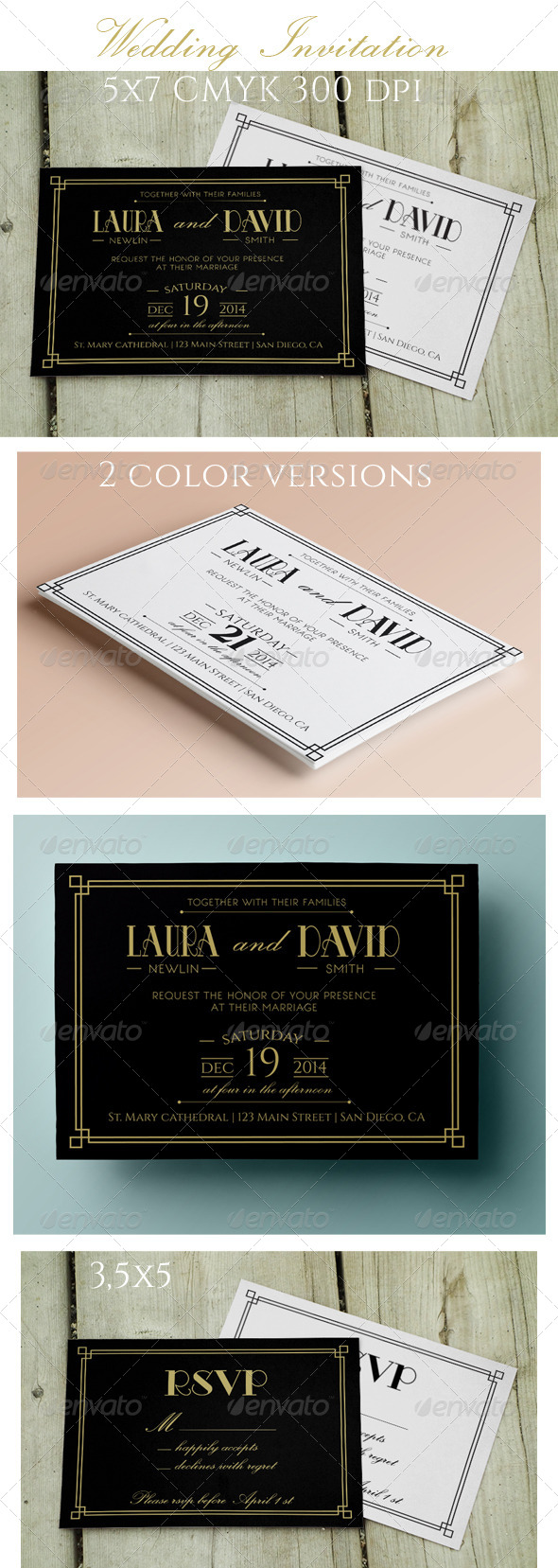 GraphicRiver Wedding Invitation and RSVP 8619445