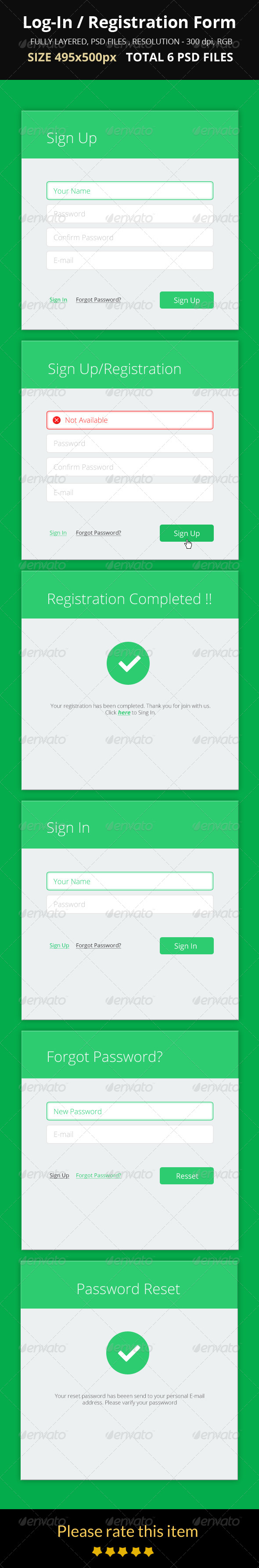 GraphicRiver Log-In Registration Form 8619473