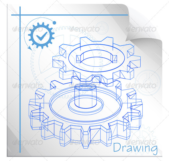 GraphicRiver Technical Drawing Illustration 8619496