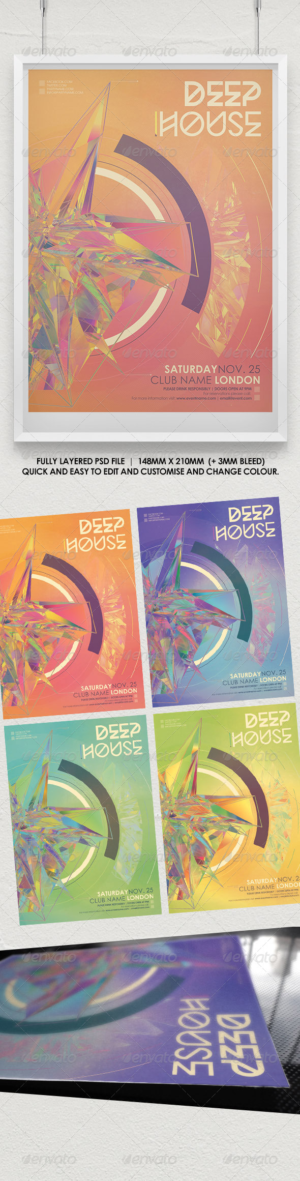 GraphicRiver Deep House Abstract Flyer Vol 1 8619525
