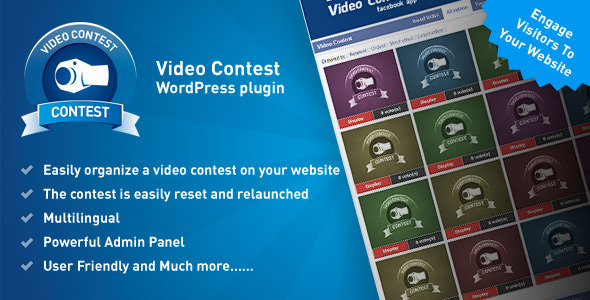 CodeCanyon Video Contest Wordpress Plugin 8619526