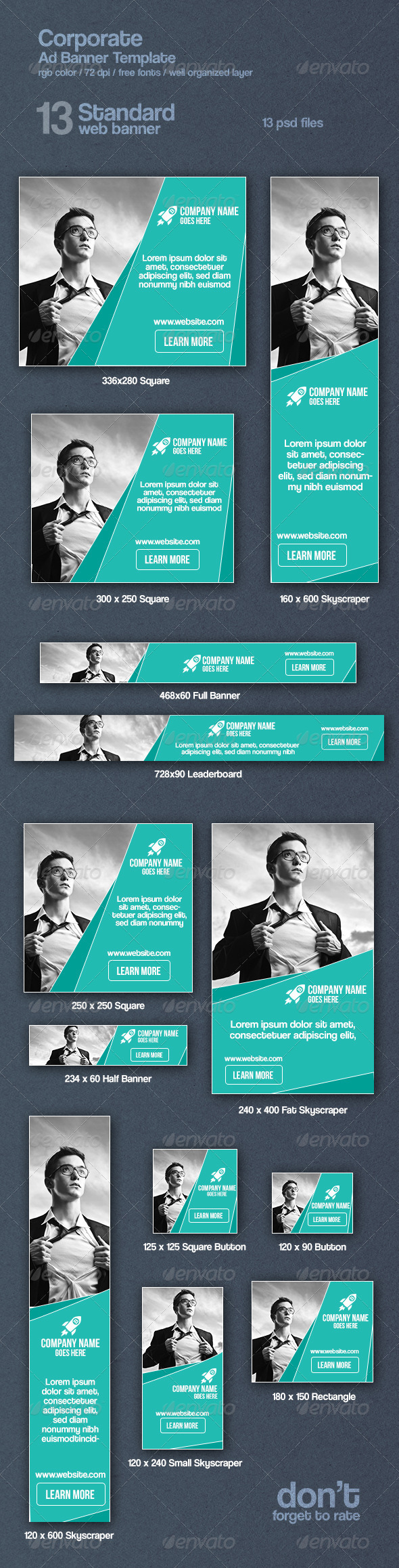 GraphicRiver Corporate Web Ad Banners 8619608