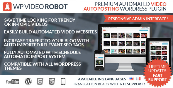 CodeCanyon Wordpress Video Robot Plugin 8619739