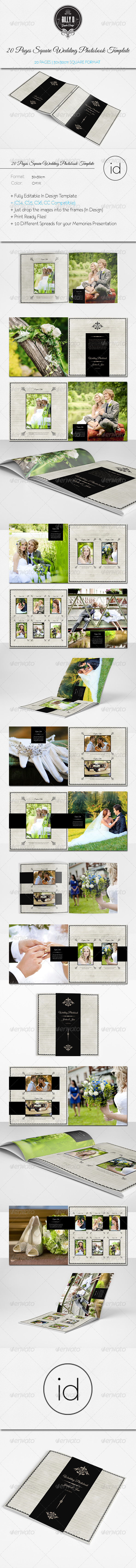 GraphicRiver 20 Pages Square Wedding Photobook Template 8619747