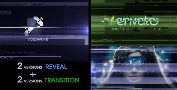 Digital Glitch Reveal and Transition