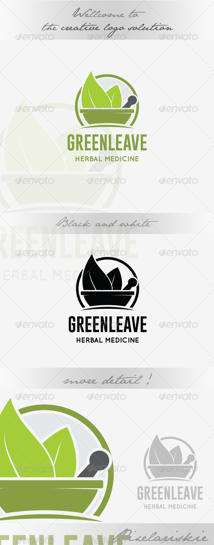 GraphicRiver Herbal Medicine Logo 8619864