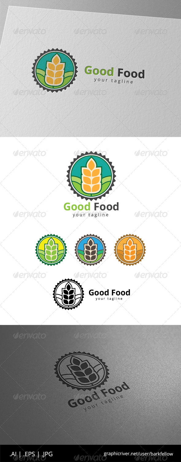 GraphicRiver Good Food Product Label Logo 8619891