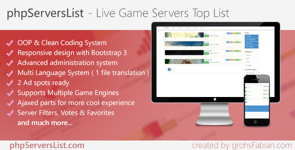 CodeCanyon phpServersList Premium Live Game Servers List 8619928