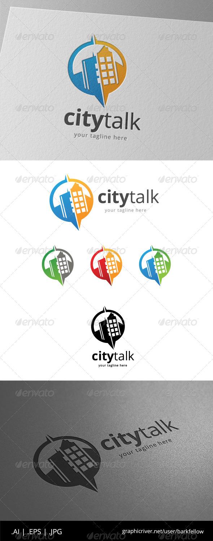 GraphicRiver City Speak Bubble Logo 8619944