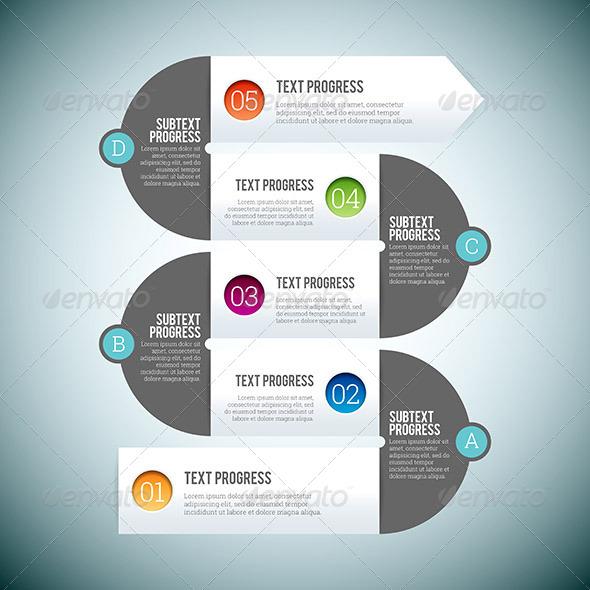 GraphicRiver Zig-Zag Line Infographic 8619949