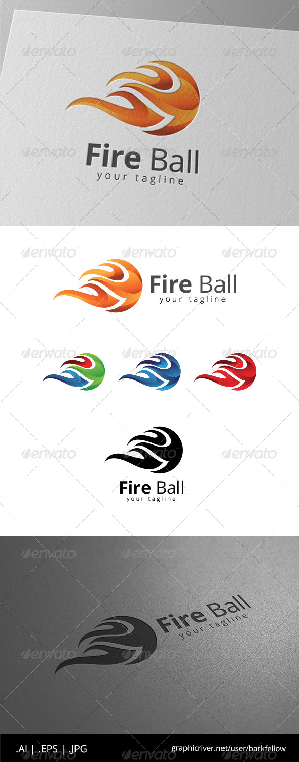 GraphicRiver Fire Ball Burn Logo 8619950
