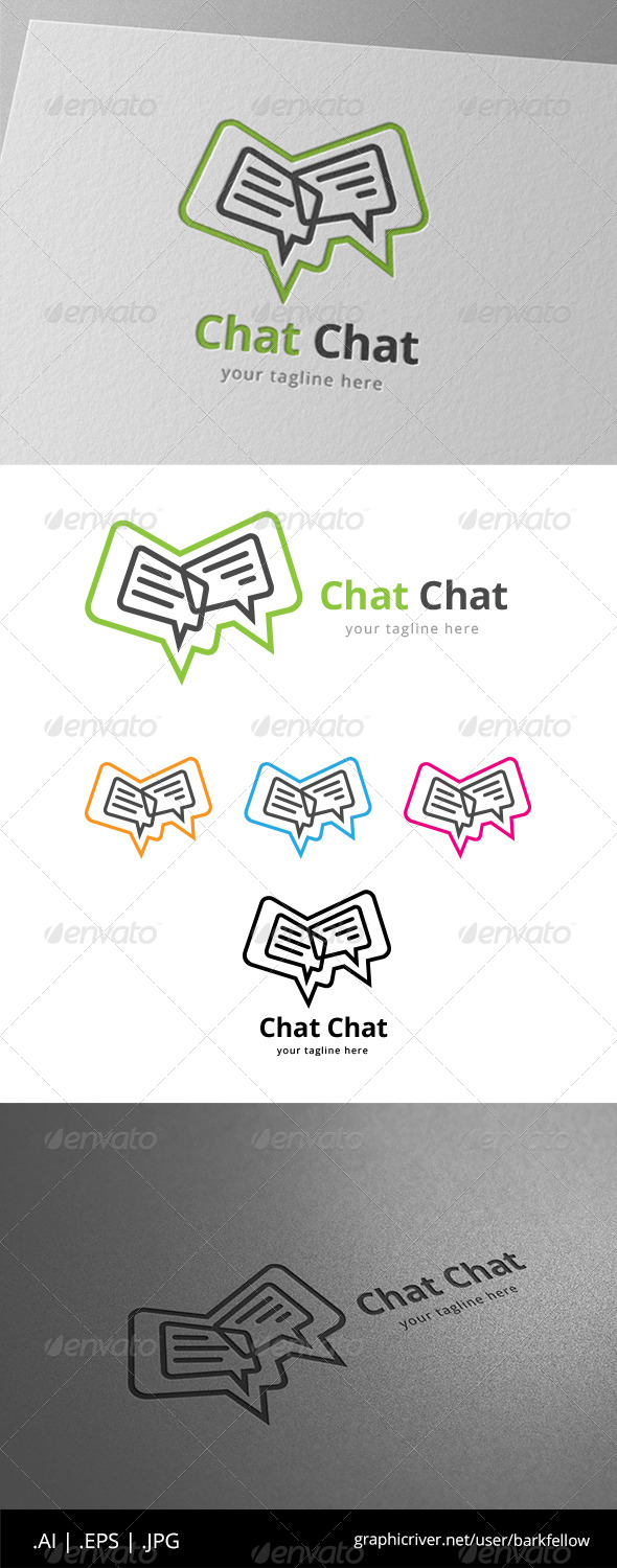 GraphicRiver Speak Chat Bubble Logo 8619952