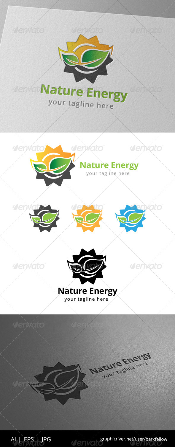 GraphicRiver Sun Solar Nature Energy Logo 8619953