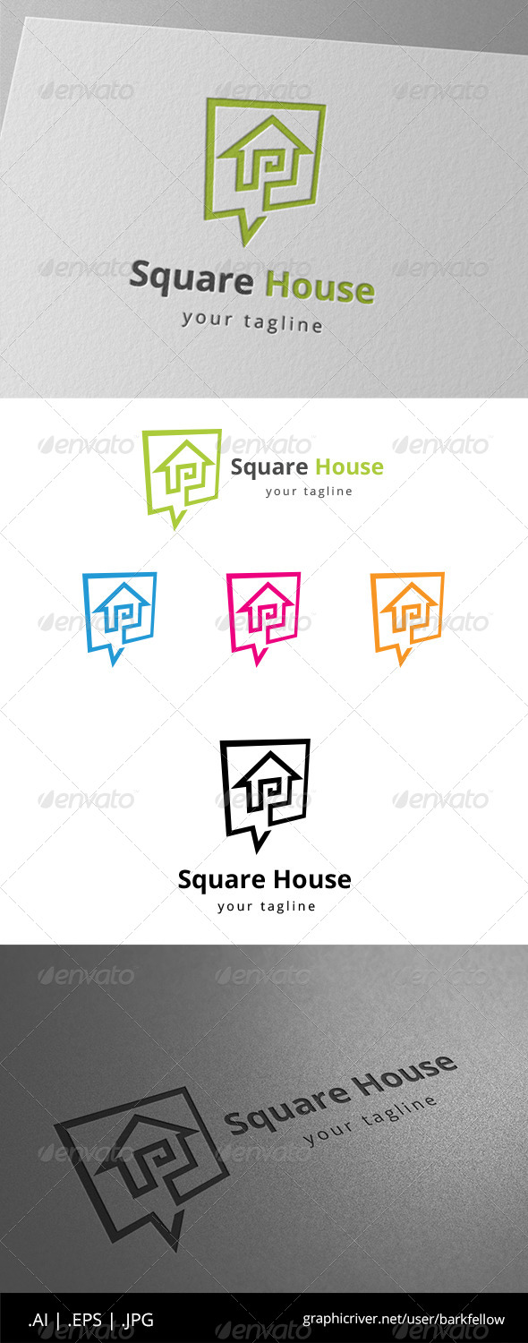 GraphicRiver Square House Speak Template 8619956