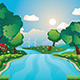 Hills and River - GraphicRiver Item for Sale