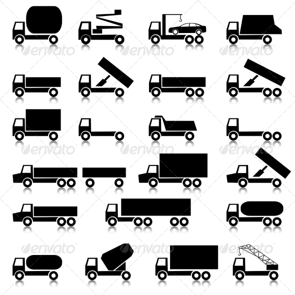 GraphicRiver Set of Transportation Symbols 8620131