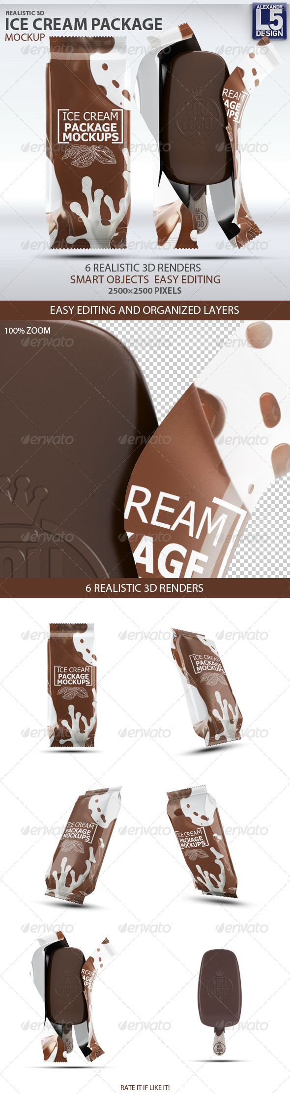 Ice Cream Package Mock-Up