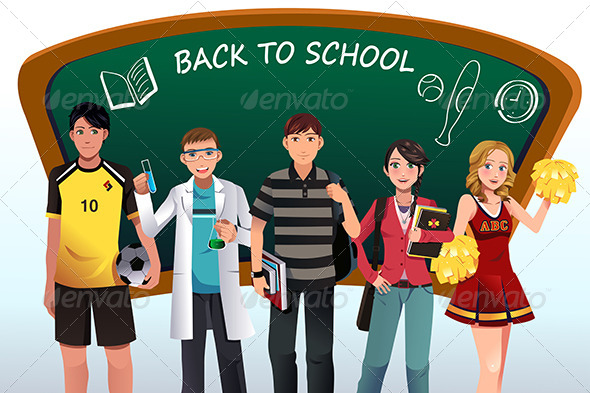 GraphicRiver Back to School Background 8620587